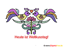 Kuss Tag Bild, Cartoon, Karte
