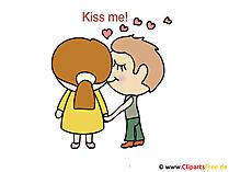 Kuss Tag Glueckwuensche, Cliparts, Bilder