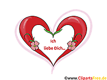 Liebe Grusskarte, Clipart, GB Bild, Grafik, Cartoon