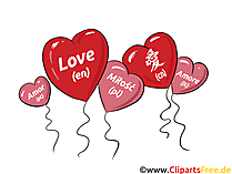 Liebe in verschiedenen Sprachen - Chinesich, Englisch, Portugiesisch, Polnisch, Italienisch Liebeskarte