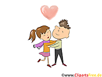Partnersuche Clipart, Bild, Illustration