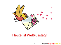 Welt Kuss Tag GB Bild, Gaestebuchbild, Clipart