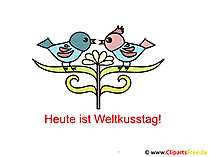 Weltkusstag Grusskarte, Cartoon, Clipart gratis