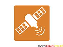 Icon Satellit im All