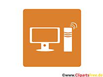 Kabellose Computerverbindung Icon