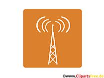 Rundfunkturm Icon-Bild