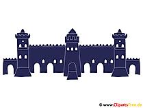 Blaue Festung Clipart