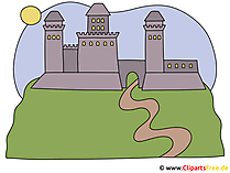 Burg auf dem Felsen Clipart