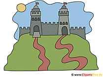 Burg auf dem Huegel Bild
