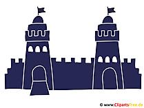 Burg mit zwei Tuermen Clipart