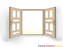 Dobbeltdør-clipart, billede, illustration