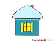 Haus, Hütte Clipart, Illustration, Bild kostenlos