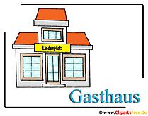 Hotel Clipart-Bild Gasthaus