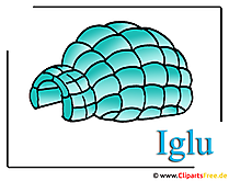 Igloo Image Clipart bedava