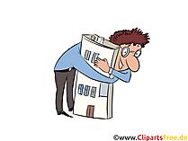 Immobilienbesitzer Clipart, Illustration, Bild, Grafik gratis