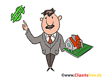 Makler Immobilien Clipart, Illustration, Bild, Grafik gratis
