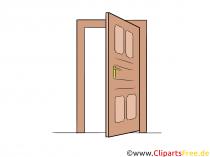 Åben Clip Art gratis med dør
