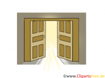 Open Clipart Door gratis