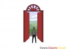 Åpne dørutklipp