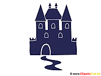 Schloss Silhouette Clipart, Bild, Grafik