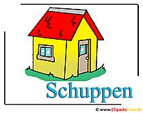 Schuppen Cliparts free Gartenlaube