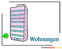 Wohnungen Clipart Bild Hochhaus
