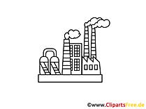 Kerncentrale clipart, afbeelding, spotprent, grafisch gratis