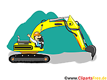 掘削機のイメージ - 業界クリップアート、ビジネスイメージ、ビジネスグラフィック、イラスト