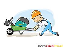 Bouwvakkers, afbeeldingen uit de bouwsector, zakelijke illustraties, zakelijke afbeeldingen, Cliparts