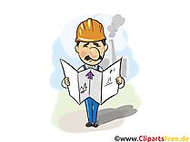 Civil Engineer Image - Industrie afbeeldingen, zakelijke illustraties, afbeeldingen, Cliparts