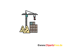 Bouw kraan clipart, afbeelding, cartoon, gratis grafisch