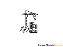 Baukran Zeichnung, Grafik, Clipart, Bild