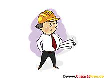 Site Manager, afbeeldingen uit de architectuurindustrie, zakelijke illustraties, zakelijke grafische afbeeldingen, Cliparts
