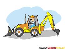 Baumaschine, Traktor Bild - Industrie Cliparts, Wirtschaft Bilder, Business Grafiken