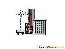 Bouwplaats wolkenkrabber beeld, clipart, illustratie, grafisch gratis