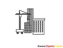 Baustelle Zeichnung, Grafik, Clipart, Bild