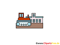 Bulldozer Clipart, Bild, Cartoon, Grafik gratis