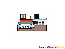 Bulldozer clipart, foto, tekenfilm, gratis grafisch
