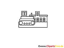Bulldozertekening, grafisch, clipart, afbeelding