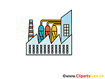 Chemie Werk Clipart, Bild, Cartoon, Grafik gratis