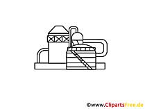 Chemiewerk Zeichnung, Grafik, Clipart, Bild