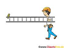Roofer Image - Industrie afbeeldingen, zakelijke illustraties, zakelijke grafieken, Cliparts