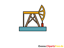 Erdölförderung Clipart, Bild, Icon, Grafik