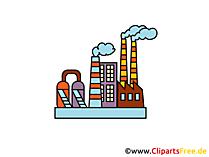 Fabrik Gebäude Clipart, Bild, Grafik, Illustration gratis