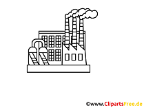 Fabriek, werktekening, grafisch, clipart, afbeelding