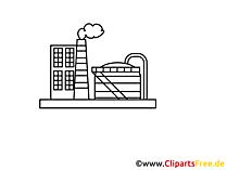 Fabrik Zeichnung, Grafik, Clipart, Bild