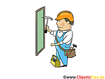 Fachmann, Bauarbeiten - Industrie Cliparts, Wirtschaft Bilder, Business Grafiken, Illustrationen