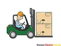 Forklift Image - Industrie en logistiek afbeeldingen, zakelijke illustraties, Clipart