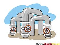 Gasindustrie und Energie - Industrie Cliparts, Wirtschaft Bilder, Business Grafiken, Illustrationen