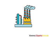 Industrie pictogram in kleur